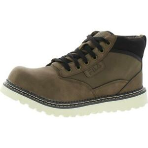 Fila Mens Grunson Faux Leather Outdoor Mid Top Hiking Shoes Sneakers BHFO 1824
