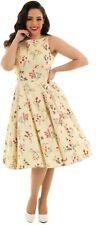 Hearts & Roses 50s Retro Style Bridget Cream Swing Dress