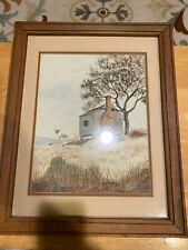 NC Artist Joan M.V. Bolton – Estate Find – Framed Original Watercolor