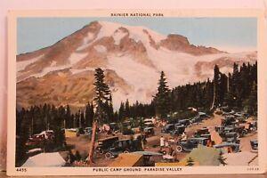 Washington WA Rainier National Park Paradise Valley Public Camp Ground Postcard