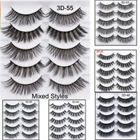 SKONHED 5Pairs 3D Faux Mink Hair False Eyelashes Wispy Thick Fake Eye Lashes UA