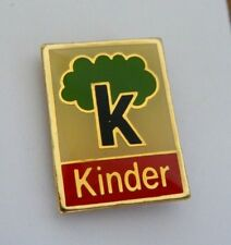 "Superbe Pins KINDER ""K"" Chocolat #P05"