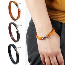 Punk Mens Women Handmade Leather Bracelet Surfer Wristband Bangle Cuff Jewelry