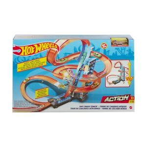 HOT WHEELS - Sky Crash Tower Track Set, Kids Racing Action Packed Fun For Xmas F