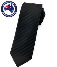 Men's Skinny Tie Black Pinstriped 6CM Slim Neck Tie Wedding Necktie Thin Ties