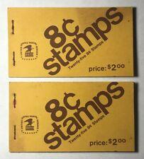 2 EISENHOWER 8c Stamp Books of 25 Each Sc #1395b (50 stamps total) NEW vintage