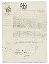 1823 manuscript notary freemason autograph document nice regular calligraphy