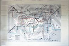 Colour Large Print London Underground Tube Map Poster Brand New 2017 885x625mm