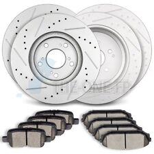 Front AND Rear Discs Brake Rotors Ceramic Pads Fits Honda Odyssey 2002 - 2004