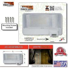 White Led 12V Rv Camper Trailer Porch Security Light / Angled White Base