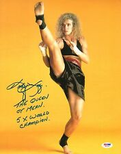 Kathy Long Signed Kickboxing World Champ 11x14 Photo PSA/DNA COA UFC 1 Autograph