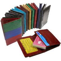 GENUINE EEL SKIN Leather Bifold Credit Business Card id Holder Case Wallet NR