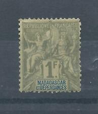 Madagascar stamps.French Colonial. 1899 1f Commerce MH. CV £50 (blue insc (Z412)