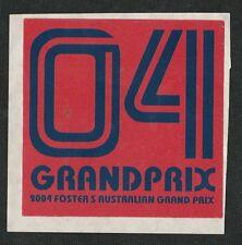 2004 FOSTERS AUSTRALIAN GRAND PRIX f1 periodo RACE STICKER AUFKLEBER Schumacher