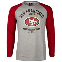 NFL San Francisco 49ers T Shirt Mens S M 2XL Raglan Long Sleeve Jersey