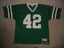 New York Jets Football Jersey #42 Ronnie Lott Logo Seven Rare Old School Mesh Lg