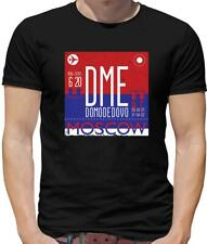 Airports Range Moscow Mens T-Shirt - Holiday - DME - Airport - Russia - Holiday