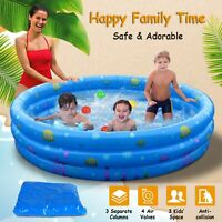 "51"" Inflatable Swimming Pool Kids Play Pool Blow Up Children Toddler Kiddie"