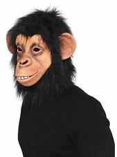 BLACK CHIMP MONKEY OVERHEAD RUBBER LATEX MASK WITH FUR BRUNO MARS MUSIC VIDEO TV