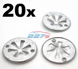 20x Volkswagen Metal Locking Star Washers- VW Underbody Heat Shield Fasteners