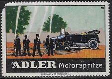 Germany Poster stamp /Reklamemarke: 1900s ADLER Motorspritze / Pumper - cw47.14