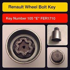 Genuine Renault Verriegelung Radmutter / Master Schlüssel Code 105 Schreiben e