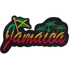 Jamaica Patch Iron Sew On T Shirt Bag Jacket Embroidered Badge Flag Rasta Reggae