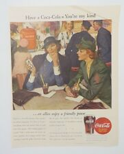 Original Print Ad 1944 COCA-COLA Coke WAF You're My Kind WWII Vintage Art