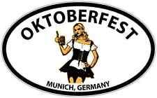 "Oktoberfest Munich Germany City Europe Oval Car Bumper Window Sticker Decal 6X4"""