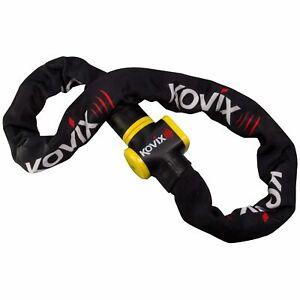 Kovix KCL10 120cm Metall-Kettenschloss mit Alarm für Motorrad Roller Fahrrad