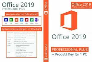 Microsoft Office 2019 Professional Plus 32/64 Bit ISO DVD mit Lizenzschlsüssel
