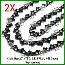 "2XCHAINSAW CHAINS 325"" 058 76DL for Baumr-Ag SX62 SX66 for 20"" bar"
