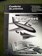 McDougal Littell Passport to Mathematic Bk 2 Cuaderno de practica (Span Teacher)