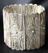 Panel Filigree Bracelet Vintage 800 Silver Eight