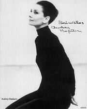 "Audrey Hepburn  AUTOGRAPHED PHOTO COPY B & W Reprint 8"" x 10""  AUD-07"