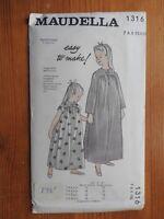 Vintage Maudella sewing pattern 1316  Girls Nightdress NEW UNCUT