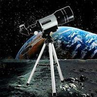 150x Refractive Astronomical Telescope (300/70mm) Monocular Space Scope +Tripod