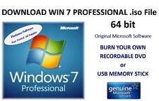 ISO File Image - Win 7 Professional 64bit SP1 - Burn your own DVD / Memory Stick