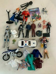 MIXED LOT OF TOYS VINTAGE TO MODERN TRANSFORMERS MUSCLE SPAWN GI JOE INCREDIBLES