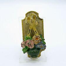 New listing Antique Cast Iron Hubley 287 Original Paint Door Knocker, Basket of Flowers, Nr