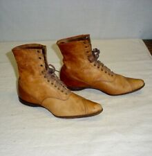 Antique Victorian Child Ladies Womens's Lace Up Leather Boots Shoes 13 1/2