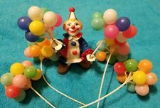 Vintage 1977 Wilton Clown Cake Topper with Balloons