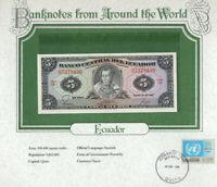 World Banknotes Ecuador 1982 5 Sucres UNC P108b serie HV
