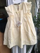 BNWTA Baby Girls Lemon Dress And Knickers By Abella Age 6-12 Months