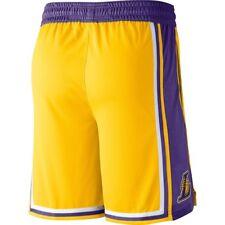 PANTALONCINI/SHORTS COLLEZIONE ADULTO-BASKET-NBA-LOS ANGELES LAKERS-JAMES-GIALLI