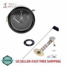 """12V 2"""" /52mm Car Fuel Level Gauge Meter Fuel Sensor E-1/2-F Pointer Indicator"""