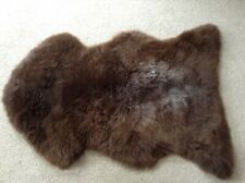 GENUINE SHEEPSKIN RUG - MIX OF BROWN AND GREY - EXTRA LARGE