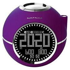 PEDEA NAFNAF Clockine Radiowecker mit Projektion lila 55005124