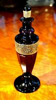Stunning Rare Antique Saint Louis Amethyst Crystal Perfume Bottle 1