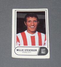 A & BC GUM CARD FOOTBALL ENGLAND 1969 WILLIE STEVENSON STOKE CITY POTTERS